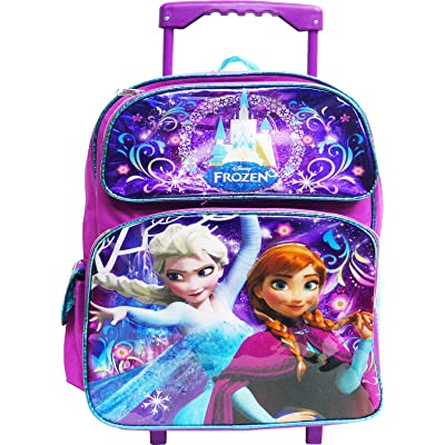 "Disney Frozen Elsa and Anna 12"" Toddler Rolling Backpack: Clothing"
