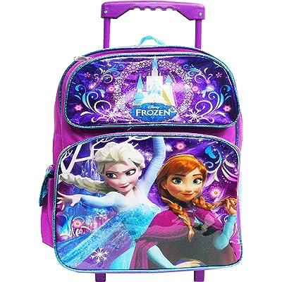 "Disney Frozen Elsa and Anna 12\"" Toddler Rolling Backpack: Clothing [5Bkhe0805093]"