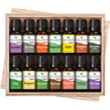 Plant Therapy Top 14 Singles Set | Lavender, Eucalyptus, Peppermint, More In A Wood Box | 100% Pure, Undiluted | 10 mL
