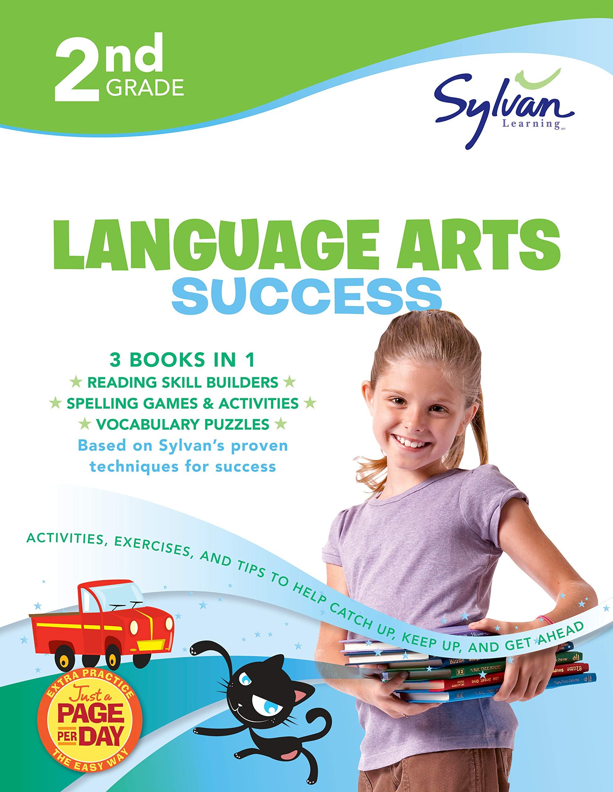 2nd Grade Language Arts Success: Activities, Exercises, and Tips to Help Catch Up, Keep Up, and Get Ahead (Sylvan Language Arts Super Workbooks) by Sylvan Learning Publishing
