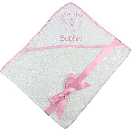Personalizado Nombre osito con Super suave bebé con capucha toalla de baño regalo, algodón,