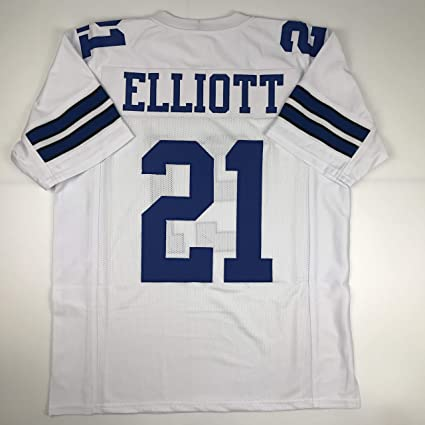 Unsigned Ezekiel Elliott Dallas White Custom Stitched Football Jersey Size  XL New No Brands Logos 2601e00b5