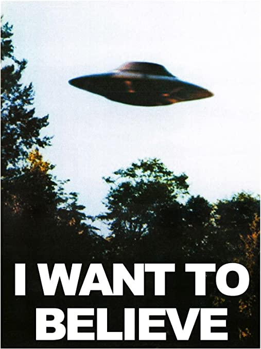 Star Wars X-Files Movie TV Show Mashup Wall Art Print in Giclee Quality I Want to Believe Poster
