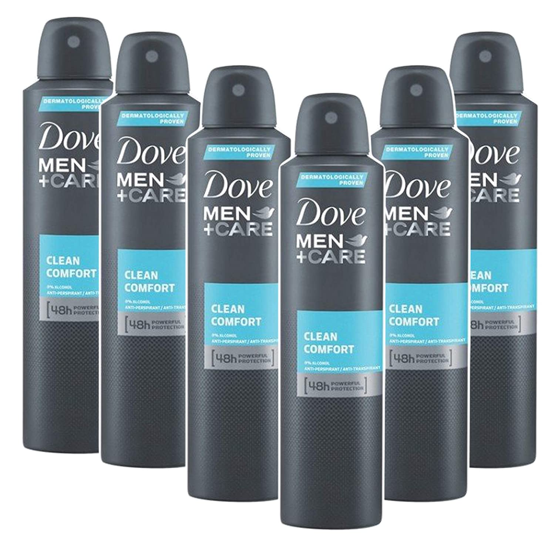 Dove Men + Care Clean Comfort Spray, International Version, 150ML (6 Pack): Health & Personal Care