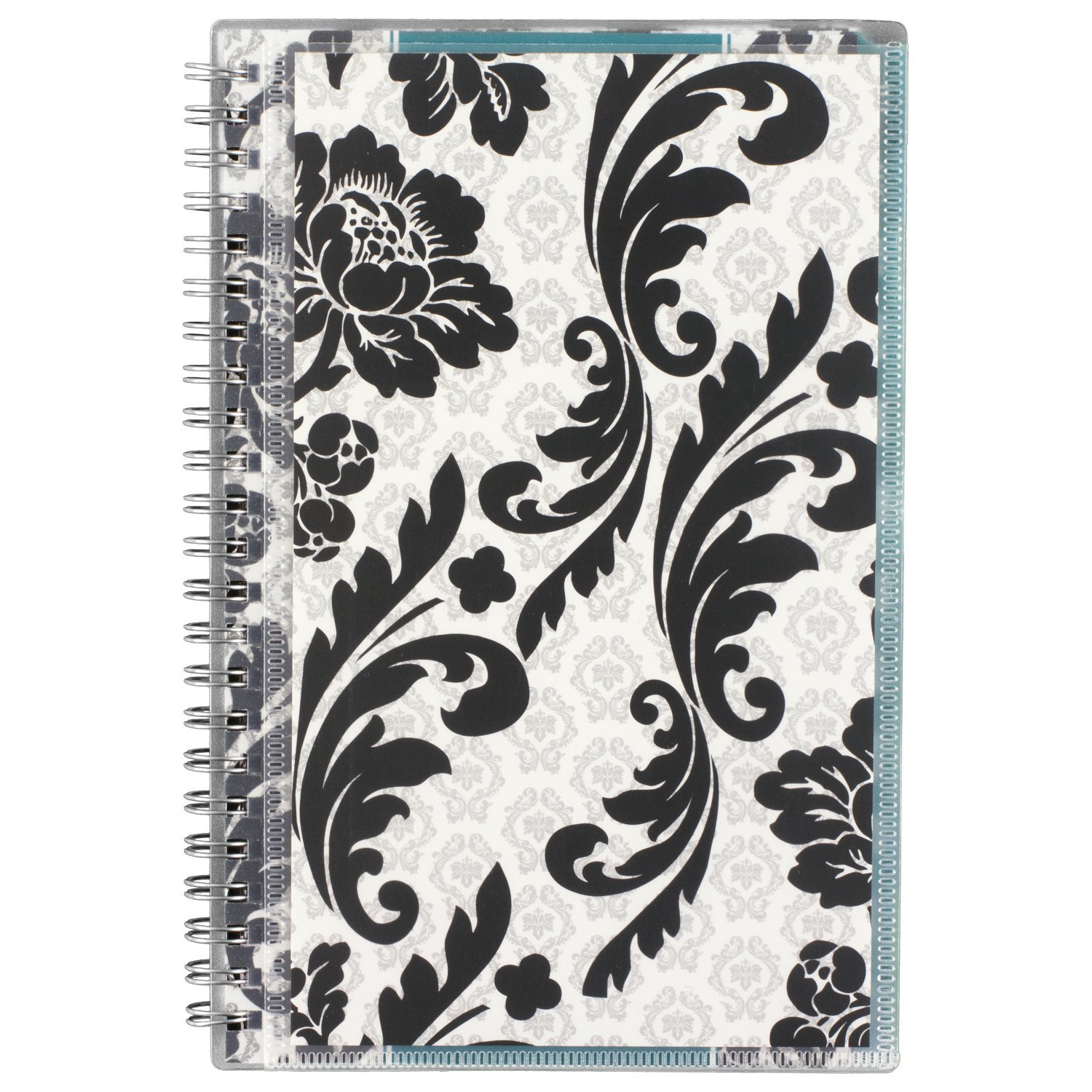 AT-A-GLANCE Academic Weekly / Monthly Appointment Book / Planner, July 2017 - June 2018, 4-7/8'' x 8'', Customizable, Madrid, White/Black (793-201A),'' Small