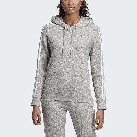 adidas Women's Essentials 3 Stripes Fleece Hoodie Sweatshirt