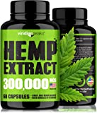 Hemp Extract Capsules 300,000 - Supplement for Anxiety & Stress Relief - 100% Grown & Made in USA - Immune Support…