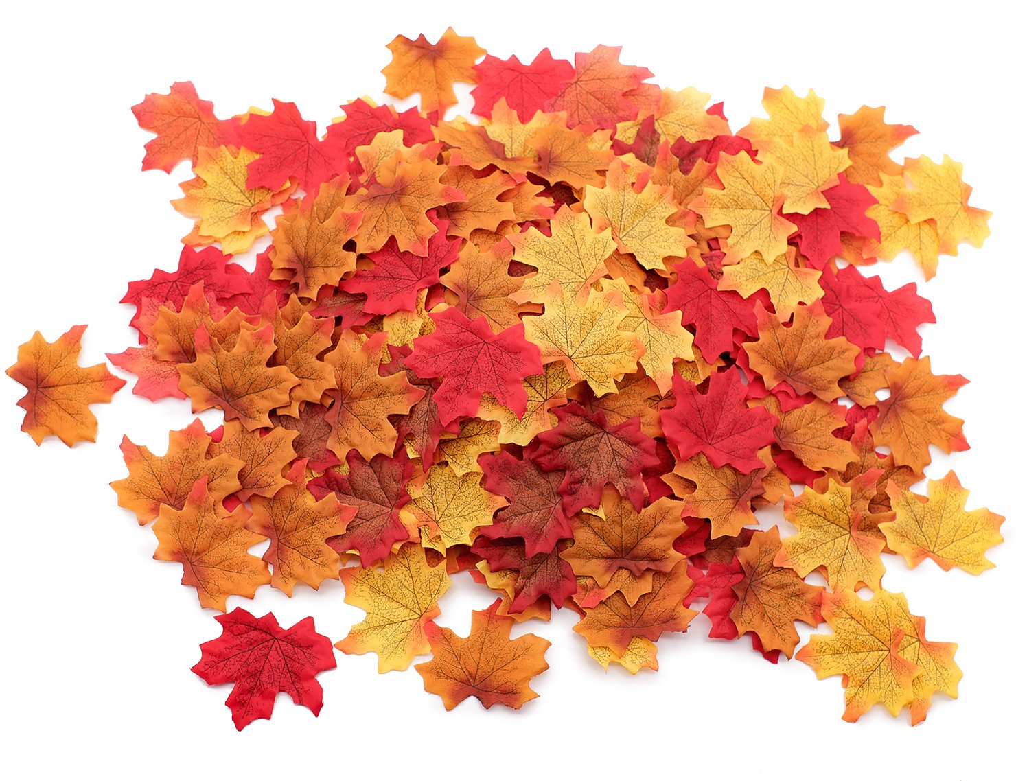 500pcs fall artificial maple leaves decorations thanksgiving