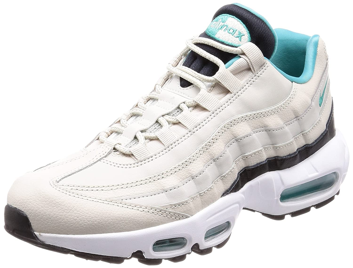 d07f47cca313a Nike Air Max 95 Essential Light Bone Black White Sport Turquoise Stone UK  7  Amazon.co.uk  Shoes   Bags