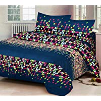 RS Home Furnishing Glace Cotton King Size Double Bedsheet,Set of 1 Bedsheet and 2 Pillow Covers - SKU_Bds_262