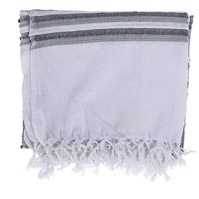 Marruecos, Cortina monocromo, algodón, Gris, manta 1,52 x 2 m: Amazon.es: Hogar