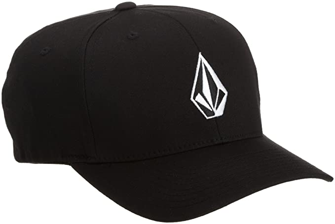 Amazon.com  Volcom Men s Full Stone Flexfit Hat Black  Clothing f135b08b2f49