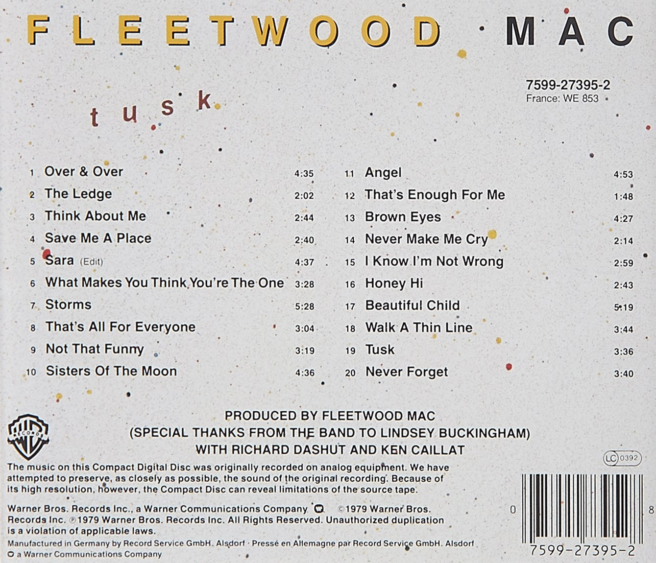 Fleetwood mac tusk amazon music stopboris Gallery
