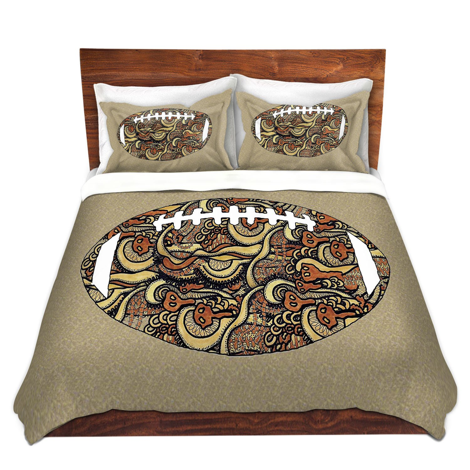 DiaNoche Designs Microfiber Duvet Covers Susie Kunzelman - Football Away Game by DiaNoche Designs (Image #2)