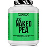 LESS NAKED PEA - VANILLA PEA PROTEIN - Pea Protein Isolate from North American Farms - 5lb Bulk, Plant Based, Vegetarian…