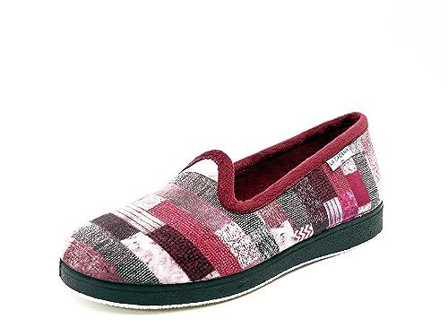 elegir oficial variedad de diseños y colores navegar por las últimas colecciones Zapatilla Mujer Estar por casa LA Cadena, en paño Cuadros ...
