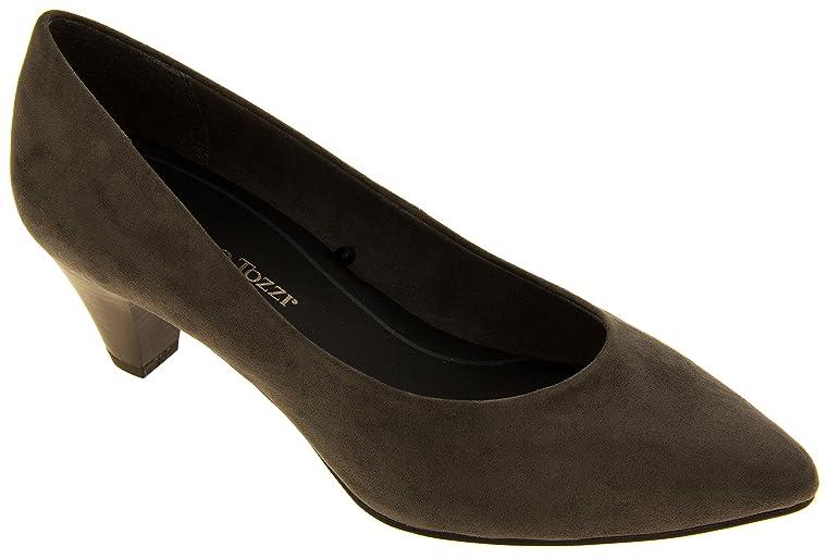 Footwear Studio Marco Tozzi 22413-27 Mujer Gris Efecto de Gamuza Medio Talón Zapatos EU 40 yqY0Kv