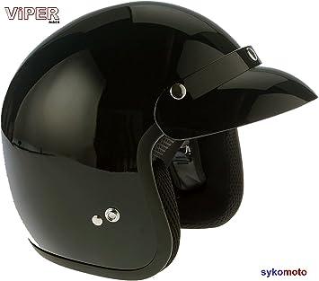 VIPER MOTO RS04 CASCO ABIERTO JET CRUISER PILOTO CHOPPER RETRO VINTAGE VESPA URBANO BOBBER ECE HOMOLOGADO