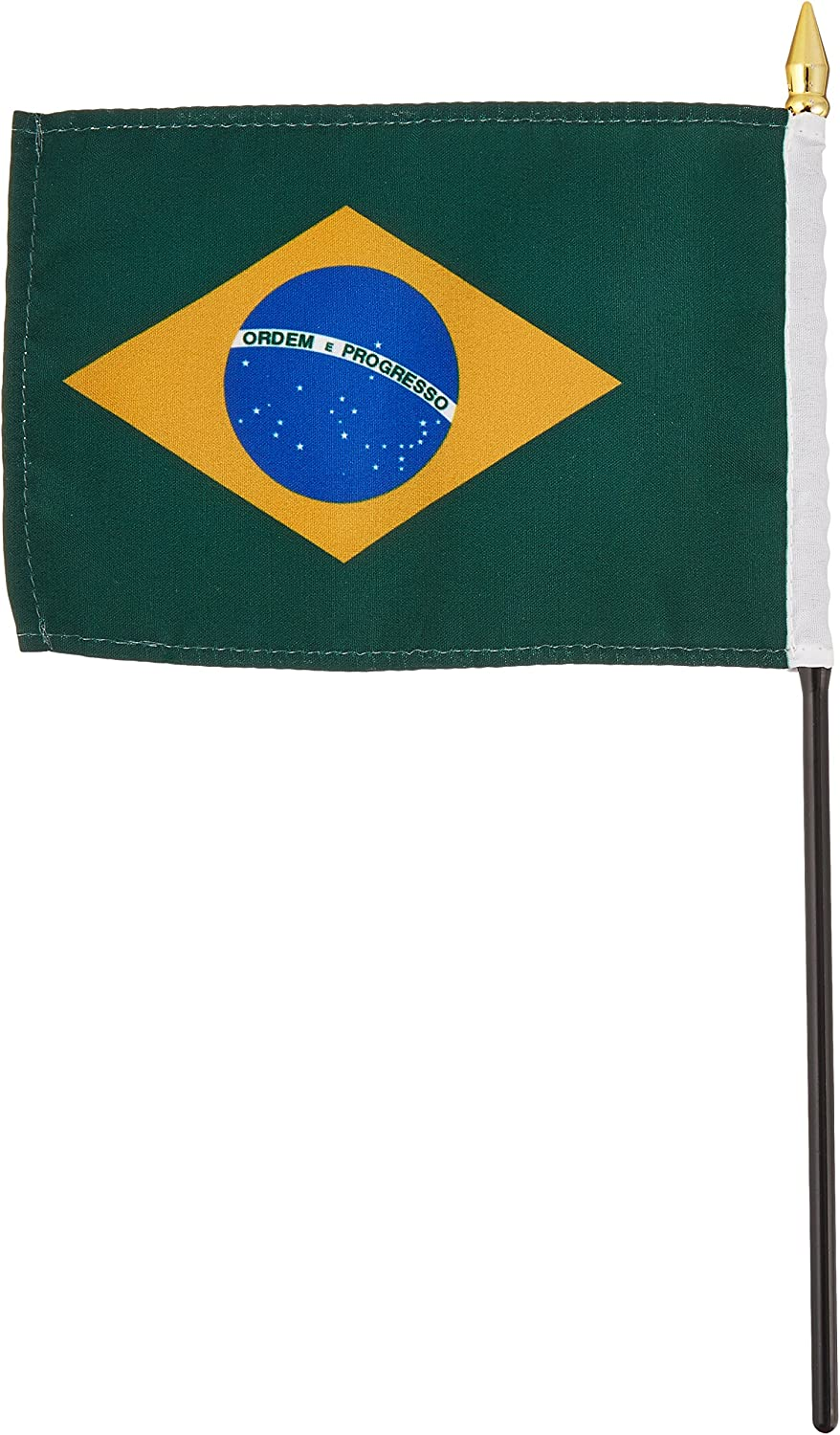 US Flag Store Brazil Flag, 4 by 6-Inch