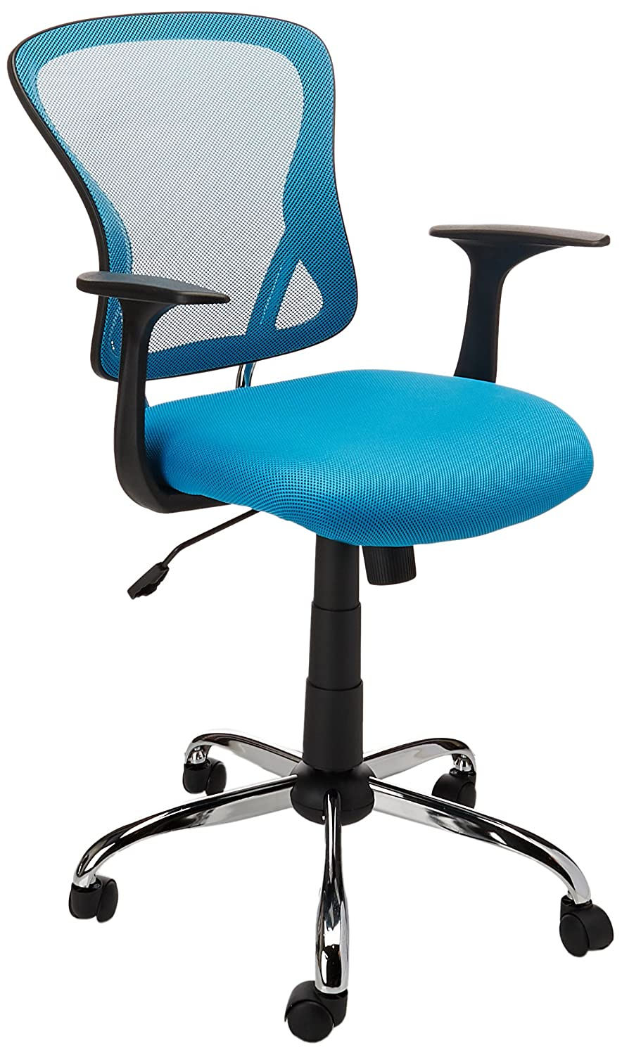 Amazon.com: Flash Furniture Mid-Back Blue Mesh Swivel Task Chair ...