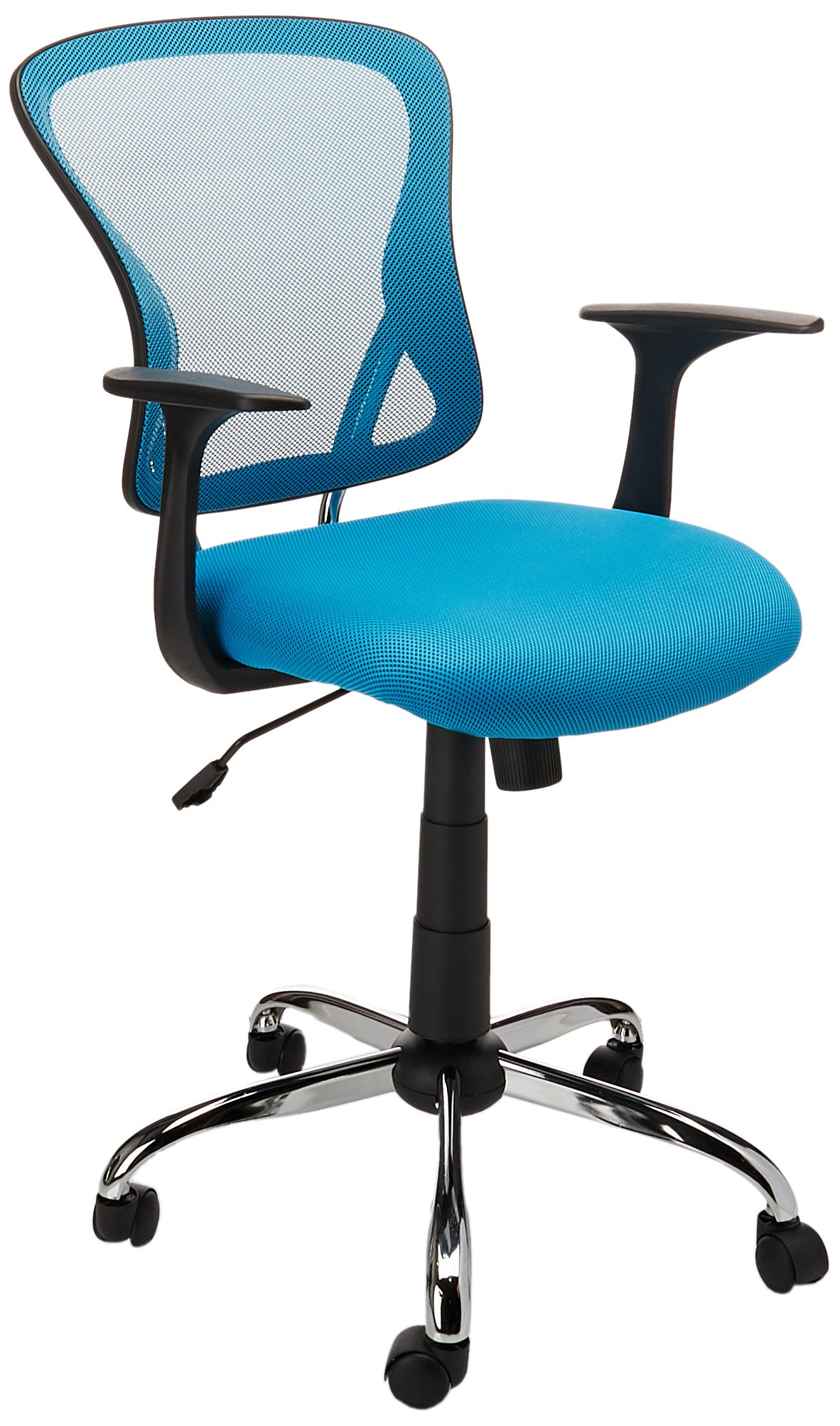 Flash Furniture Mid-Back Blue Mesh Swivel Task Chair with Chrome Base and Arms by Flash Furniture