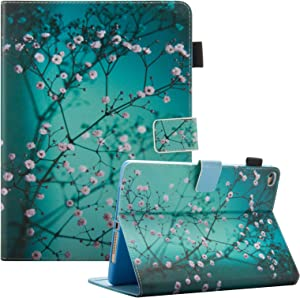 iPad 9.7 inch 2018 2017 Case/iPad Air Case/iPad Air 2 Case, Dteck PU Leather Folio Smart Cover with Auto Sleep Wake Stand Wallet Case for Apple iPad 6th / 5th Gen,iPad Air 1/2, Pear Flower