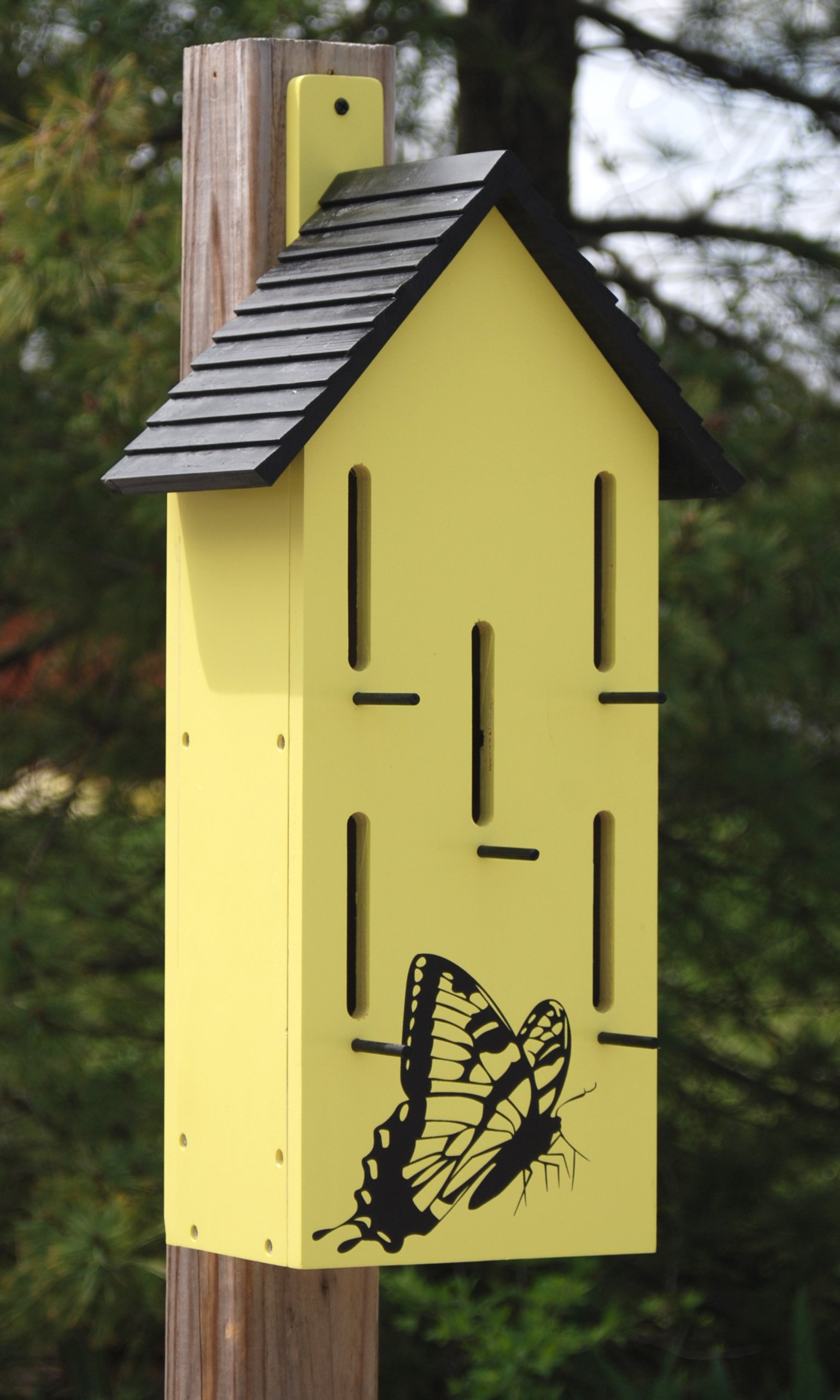 BestNest Classic Butterfly House with Perches, Yellow