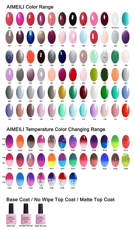 AIMEILI Soak Of UV LED Gel Nail Polish Colour Set - Pick Any 10 Colours 10ml