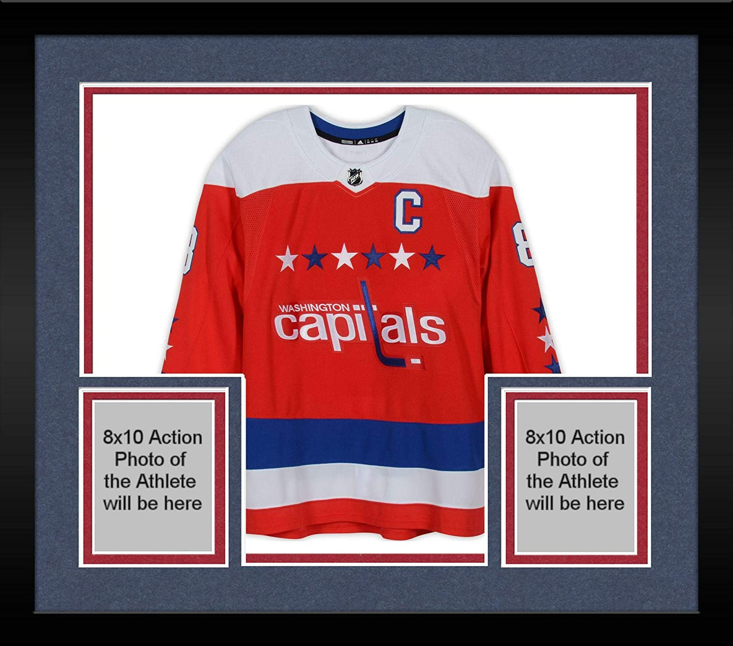 uk availability b3db4 3f284 Framed Alex Ovechkin Washington Capitals Autographed Red ...