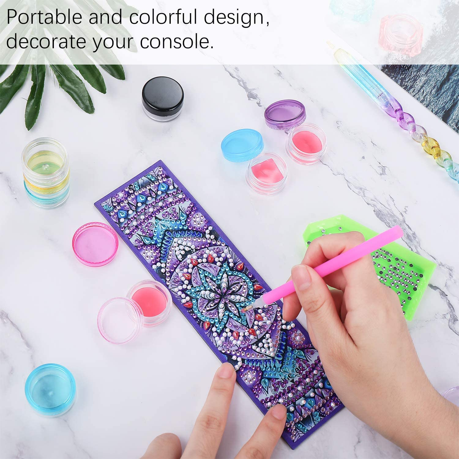 30 Pieces Diamond Painting Glue Clay DIY Diamond Embroidery Glue and 20 Pieces Diamond Painting Wax Storage DIY Painting Wax Organizer Box for Diamond Painting Accessories
