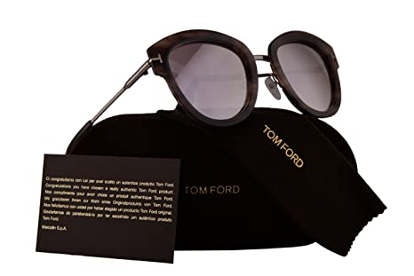 afcad5c2f8954 Image Unavailable. Image not available for. Color  Tom Ford FT0574 Mia-02  Sunglasses Havana w Brown Mirror ...