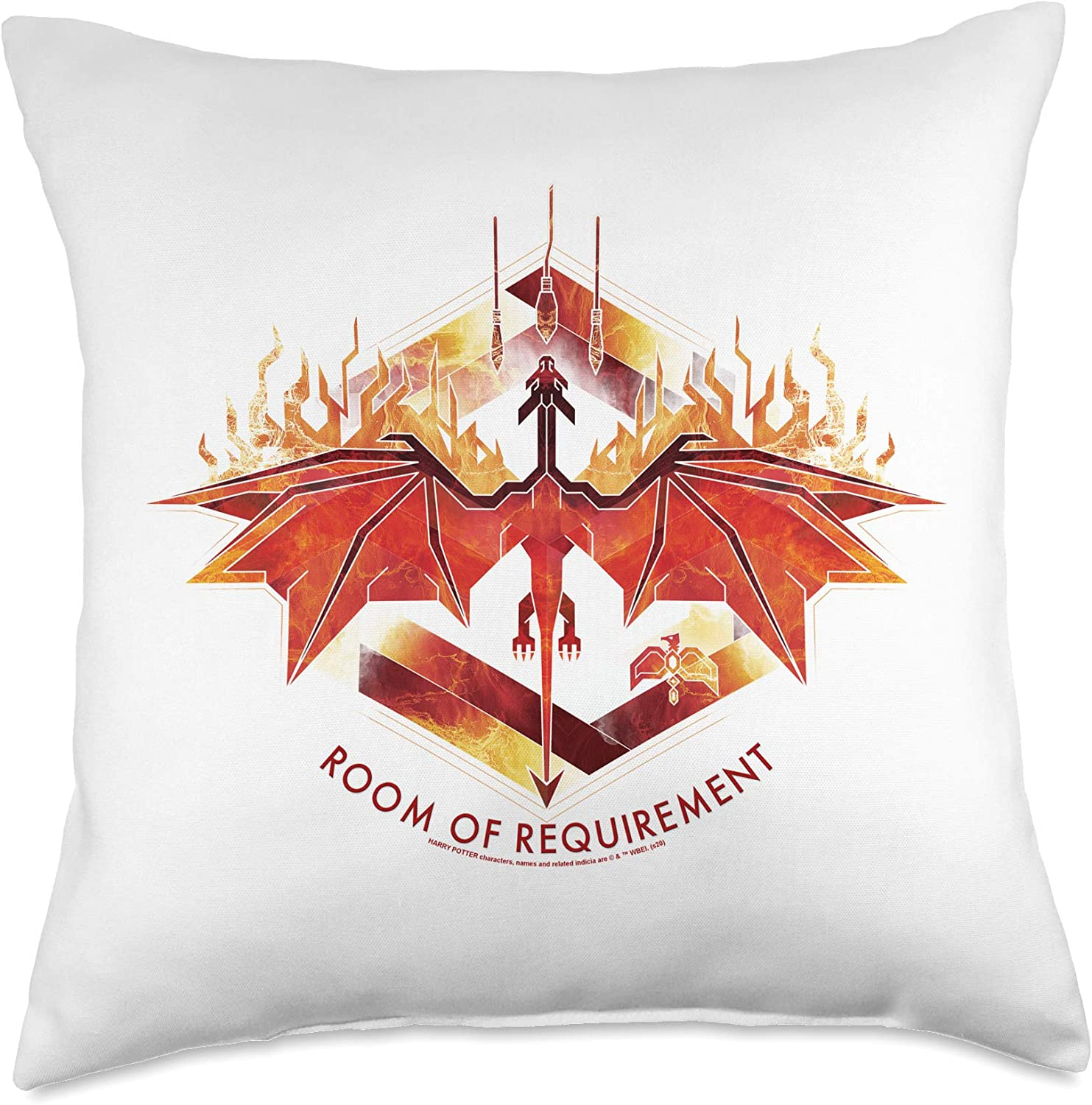 Harry Potter Room of Requirement Dragon Throw Pillow, 18x18, Multicolor