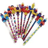 Fidget Pencil Toppers on Pencil (Wing Nuts and Nutsn Bolts Only, Pack of 12)