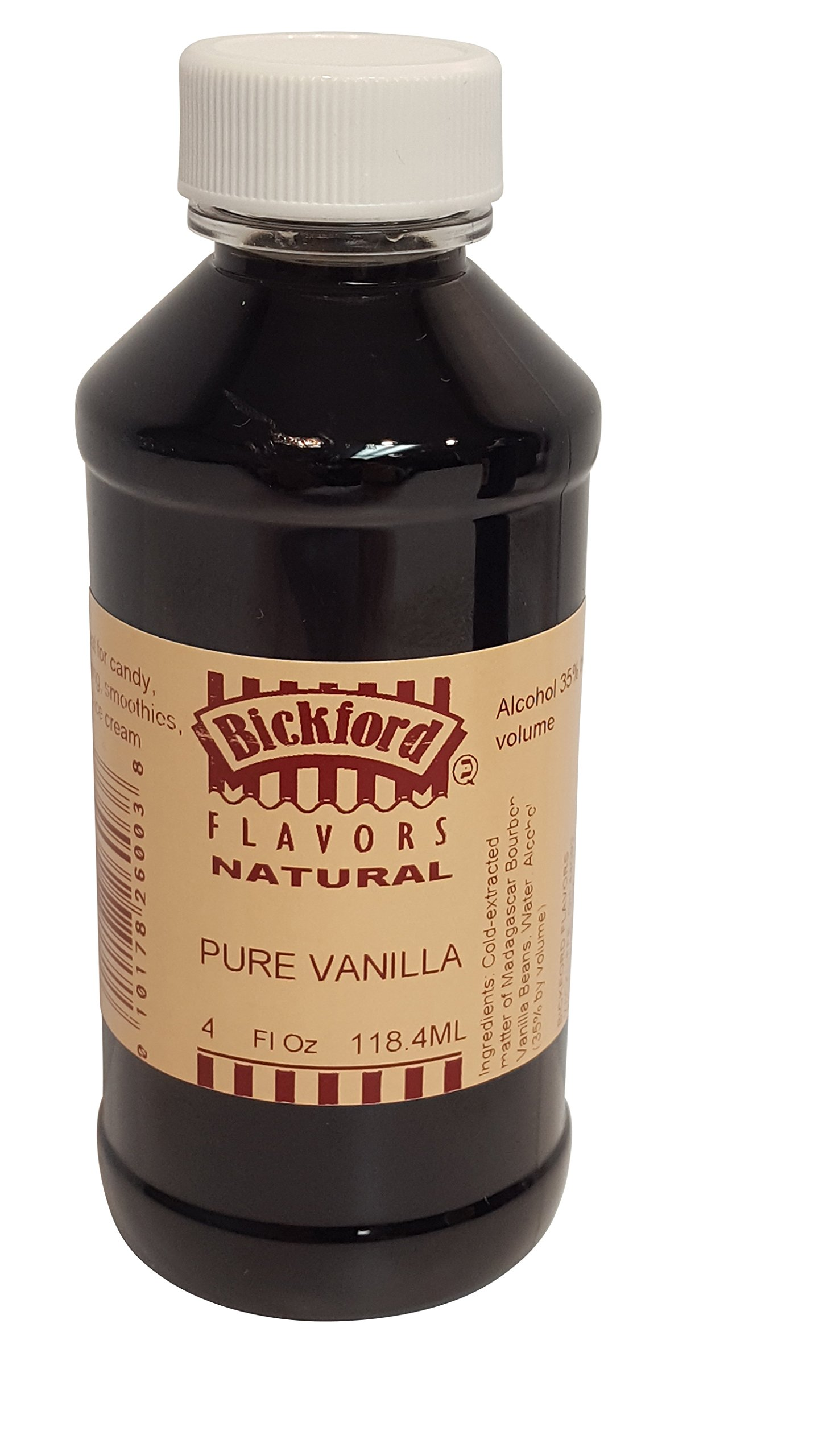 Bickford Flavors 4X Pure Vanilla Extract (4 Oz)