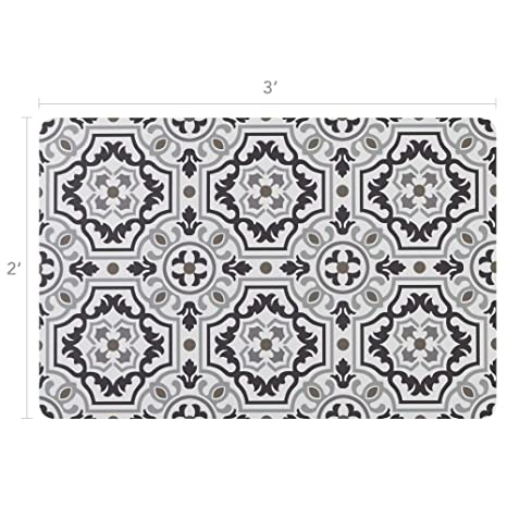 Vinyl Floor Mats >> Vinyl Floor Mat Durable Soft And Easy To Clean Ideal For Kitchen Floor Mudroom Or Pet Food Mat Freestyle Wool Tapestry Pattern 2 Ft X 3 Ft