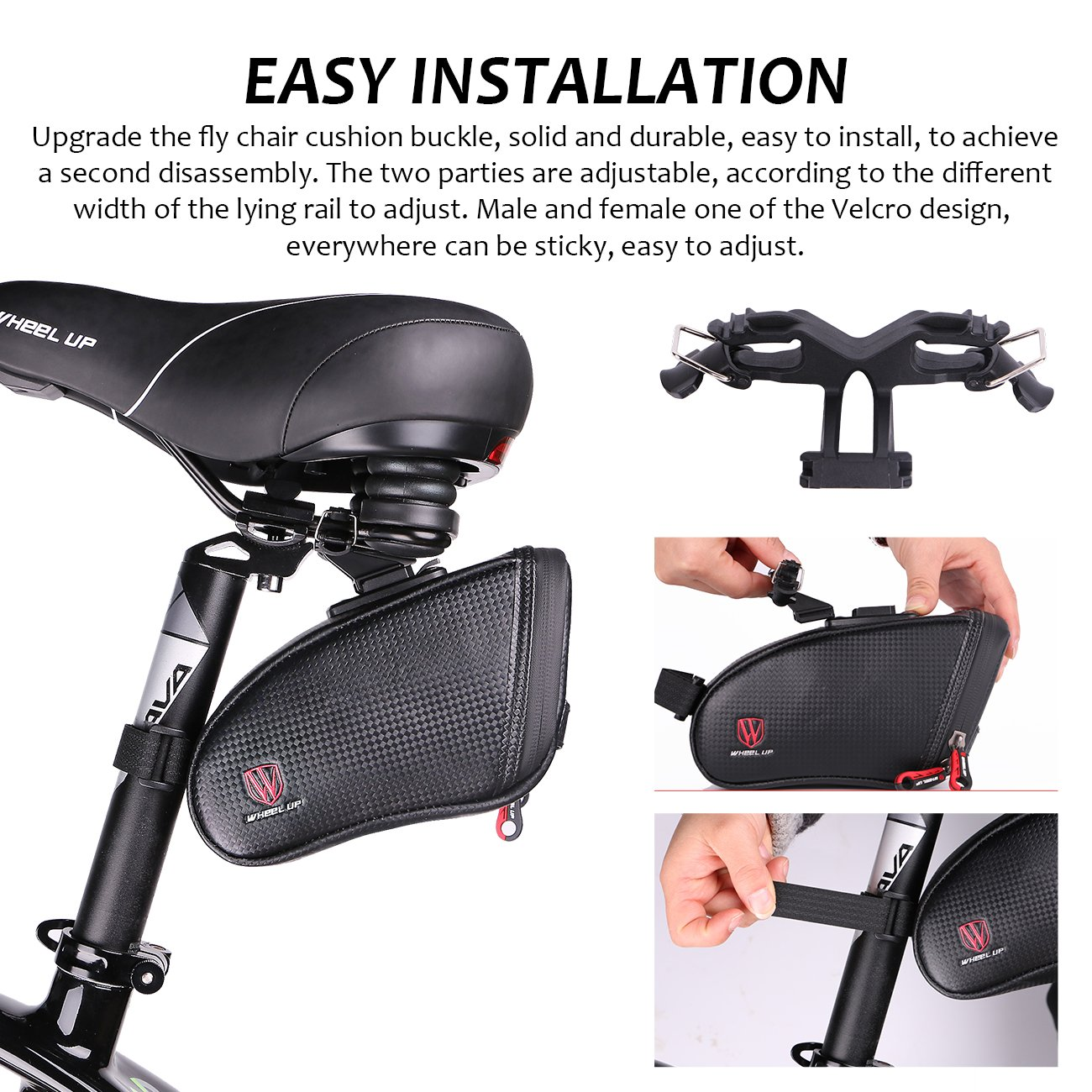 Waterproof Cycling Bike Saddle Bag Bicycle Wedge Pack Rear Back Seat Tail Bag