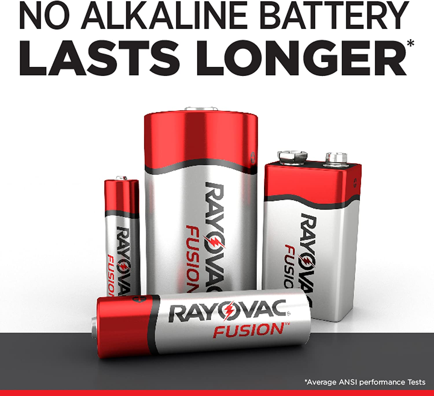 Rayovac Fusion 9V Batteries 2 Count Premium Alkaline 9V Battery