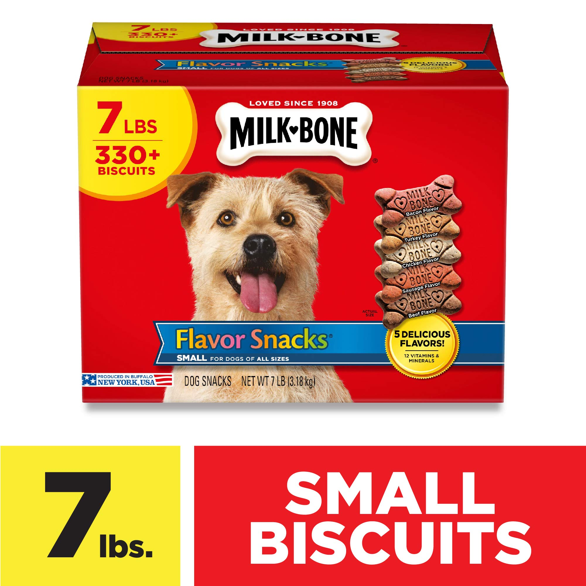 Milk-Bone Flavor Snacks Dog Treats for Dogs of All Sizes