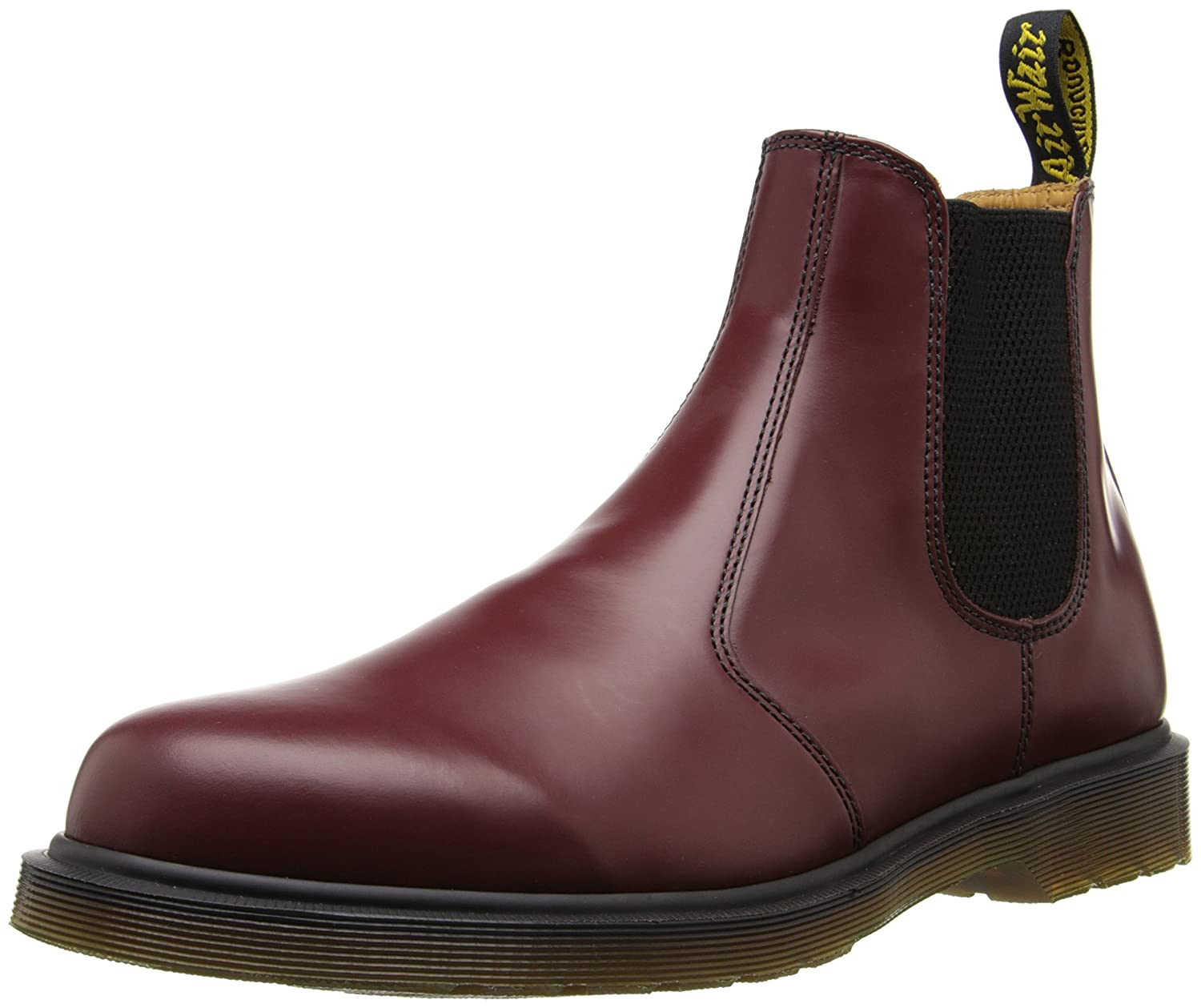 Dr. Martens 2976 Chelsea Boot,Black Smooth B001387T7A 7 UK/Women's 9 Men's 8 M US|Cherry Red Smooth