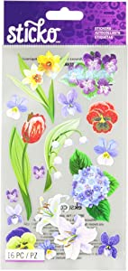 Sticko Floral Medley Stickers