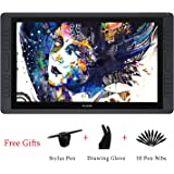 Huion KAMVAS GT-221 PRO HD IPS Pen Display Professional Graphic Drawing Tablet Monitor with 8192 Pen Pressure Sensitivity and 10 Express Keys 1 Touch Bars