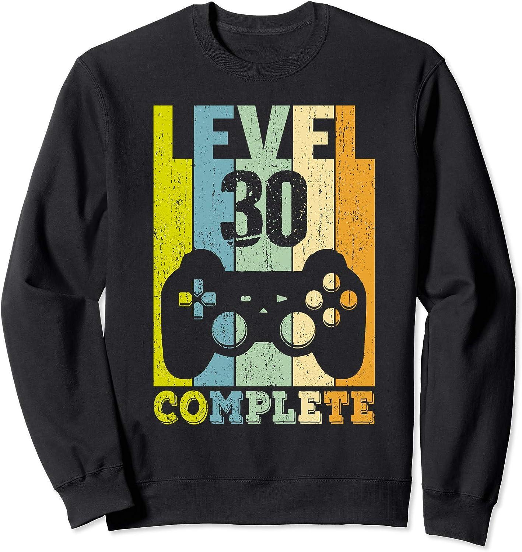 30 Ans Anniversaire Homme Femme Cadeau D/éco Humour Level 30 Sweatshirt