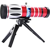 HSINI–Zoom Óptico de 20x Telescopio Cámara Teléfono Lente Telefoto para iPhone 4/4G/4S, color rojo