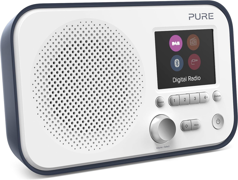 Pure Elan Bt3 Digitalradio Dab Dab Digital Und Ukw Radio Mit Bluetooth Weckfunktionen Küchen Und Sleep Timer 2 8 Zoll Tft Farbdisplay 40 Senderspeicherplätze Streaming Aux Slate Blau Heimkino Tv Video
