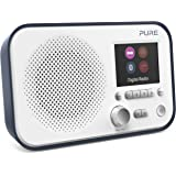Pure Elan BT3 Portable Digital DAB/DAB+/FM Radio with Bluetooth - Alarm - Colour Screen - Battery / Mains Powered - Slate Blue