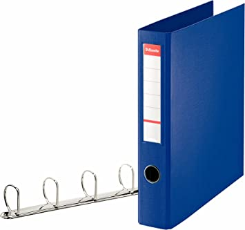 Blue A4 Holds up to 380 Sheets 82405 60 mm Spine PP Esselte 4 Ring Binder