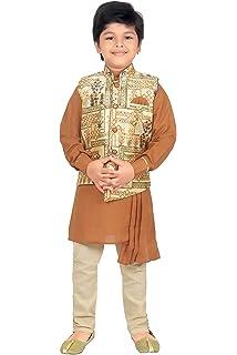 ea759823d ahhaaaa Kids Ethnic Wear Collection Waistcoat Kurta and Pyjama Set for  Boys_420