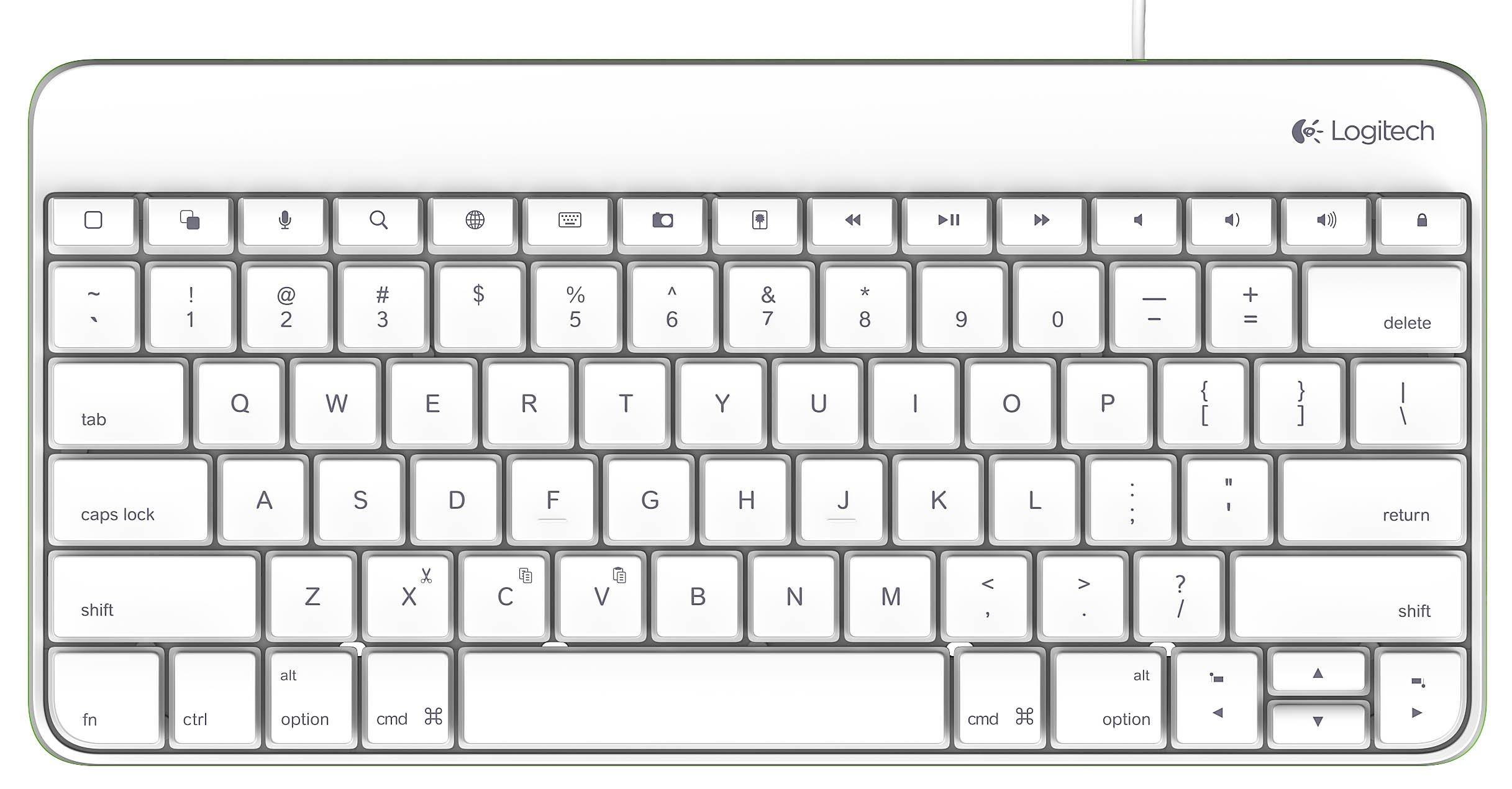 Logitech Wired Keyboard with 30-pin Connector for iPad 1/2/3