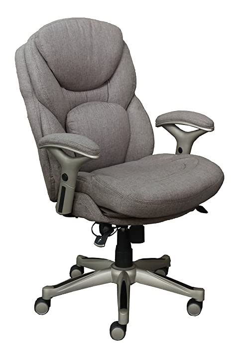 serta works executive office chair with back in motion technology fabric light gray