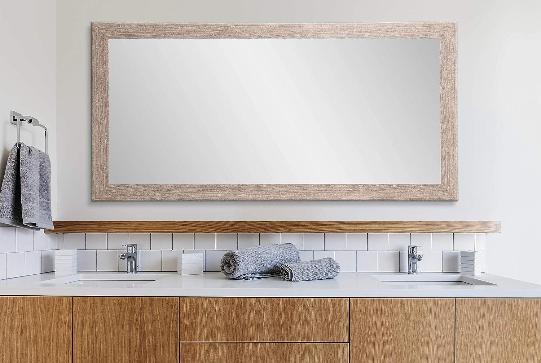 Amazon Com Brandtworks Shabby Chic Farmhouse Full Length Floor Vanity Wall Mirror 32 X 71 Brown White Home Kitchen
